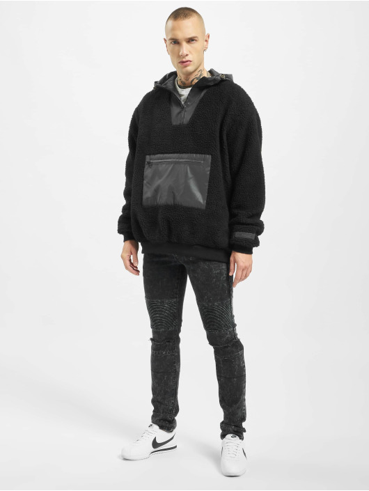 Sixth June Hoodie Reflective Borg black