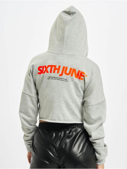 Sixth June Hoodie Back Reflective grey