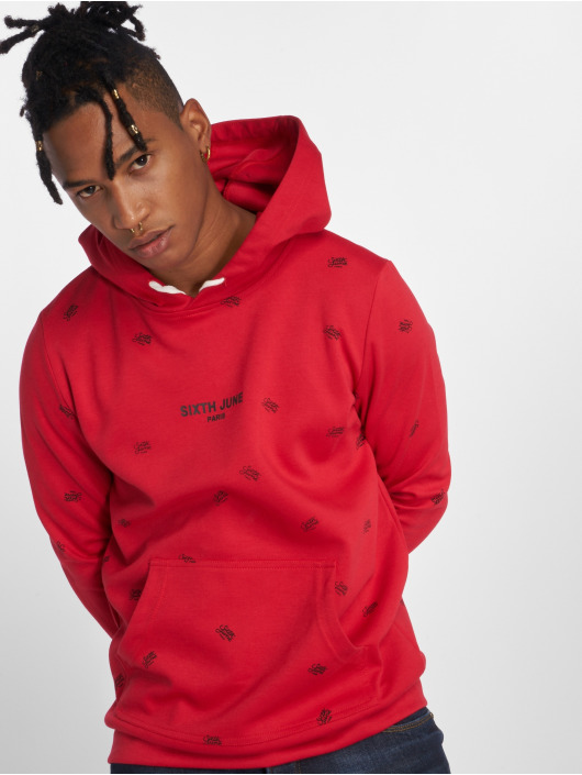 Sixth June Hoodie Logo Mania red