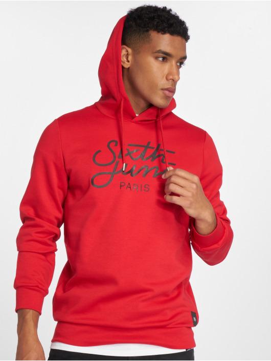 Sixth June Hoodie Logo röd