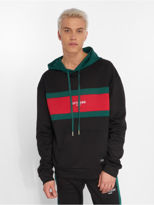 Sixth June Hoody Flag schwarz