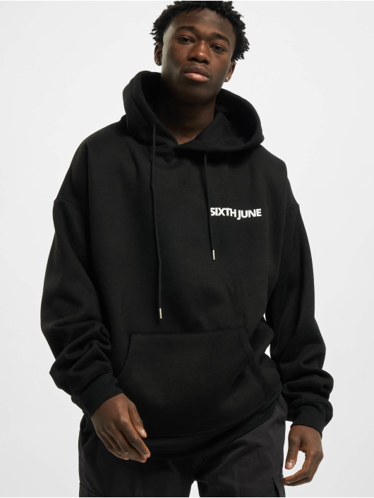 Sixth June Hoody Basic Logo schwarz