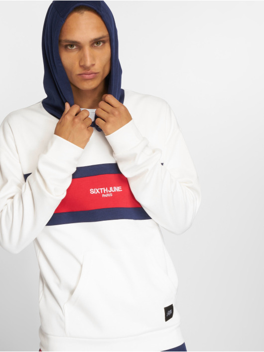 Sixth June Hoody Flag Logo wit