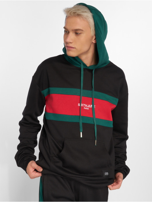 Sixth June Hoody Flag zwart