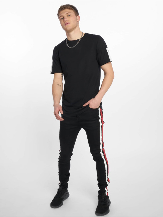 Sixth June Jean slim Black/Red Bands noir