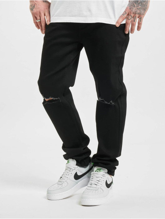 Sixth June Jeans slim fit Ripped Relaxed Denim nero