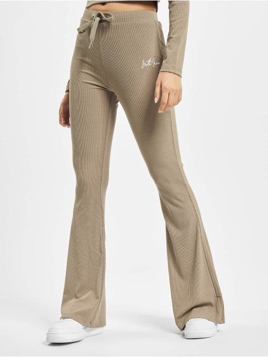 Sixth June joggingbroek Ribbed beige