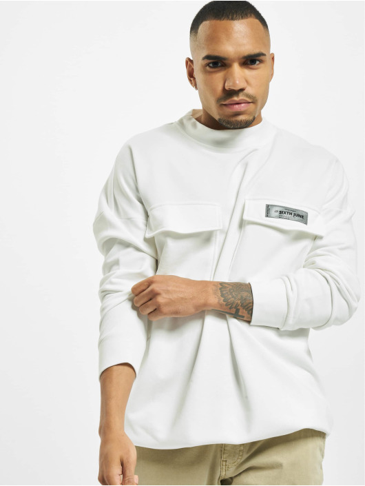 Sixth June Jumper High Neck Cargo white