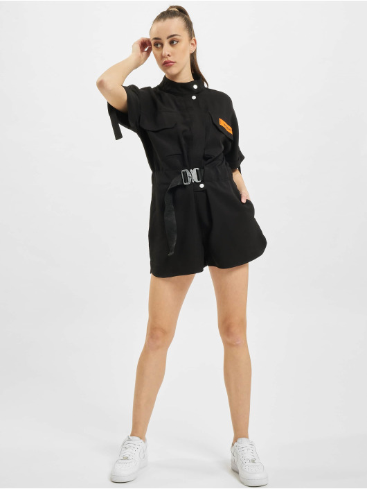 Sixth June Jumpsuit Utility Overall schwarz