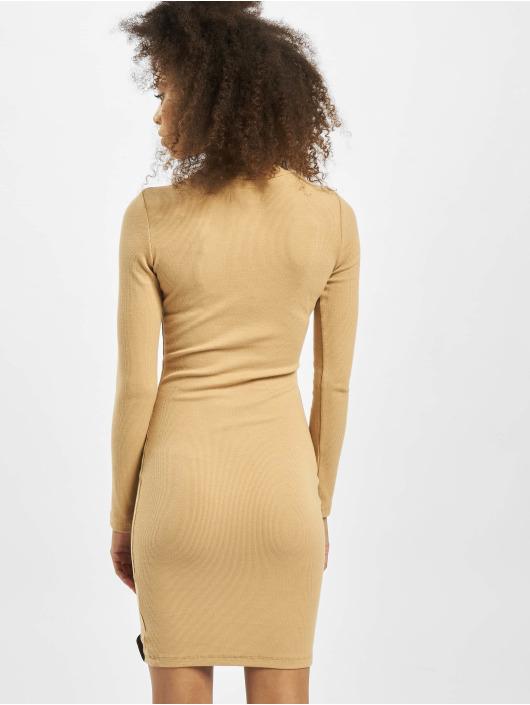 Sixth June Kleid Ribbed beige