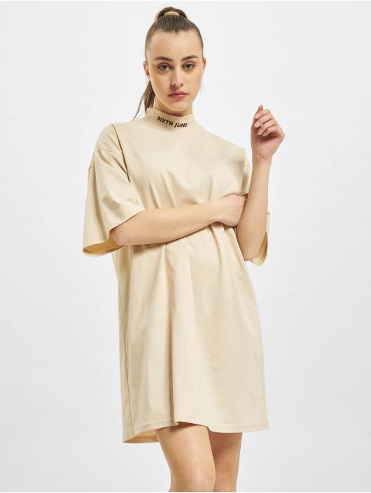 Sixth June Kleid High Neck beige