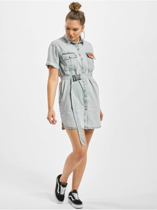 Sixth June Kleid Denim blau