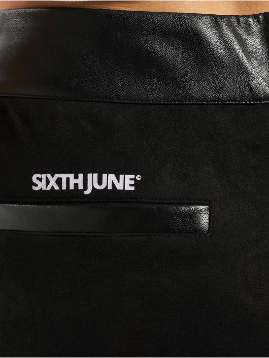 Sixth June Leggings/Treggings Suede czarny