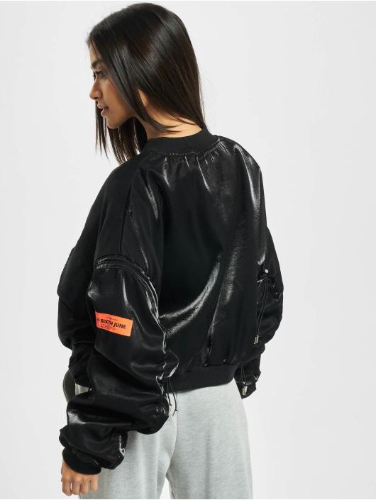 Sixth June Lightweight Jacket Satin black