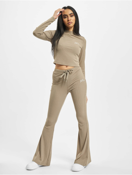 Sixth June Linne Ribbed Crop beige