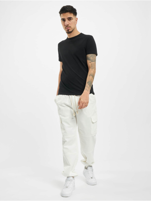 Sixth June Pantalon cargo Strings blanc