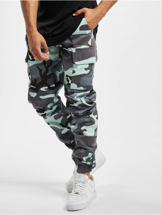 Sixth June Pantalon cargo Camo bleu
