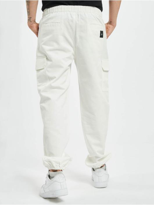 Sixth June Pantalone Cargo Strings bianco