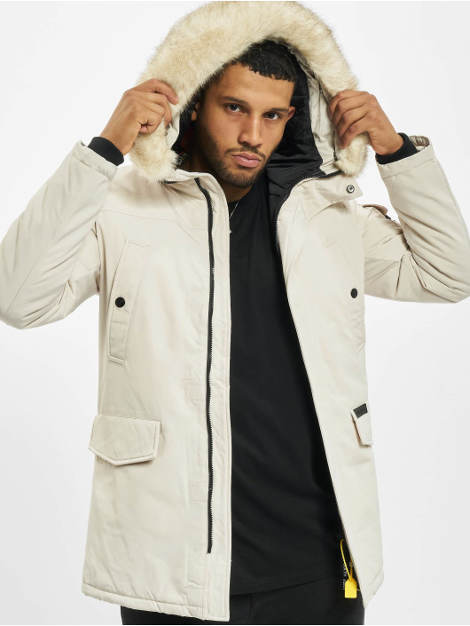 Sixth June Parka Polycotton Parka With Fur blanc