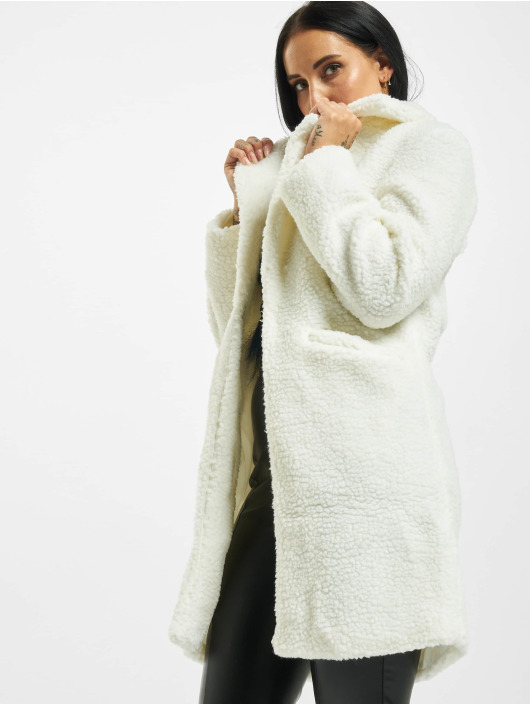 Sixth June Parka Long Sherpa blanc