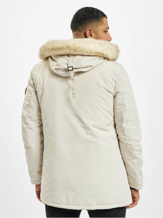 Sixth June Parka Polycotton Parka With Fur blanco
