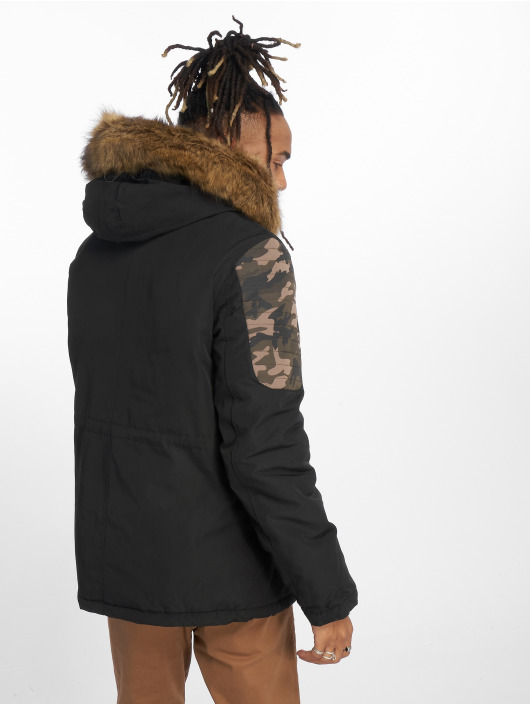Sixth June Parka Biker Fur schwarz