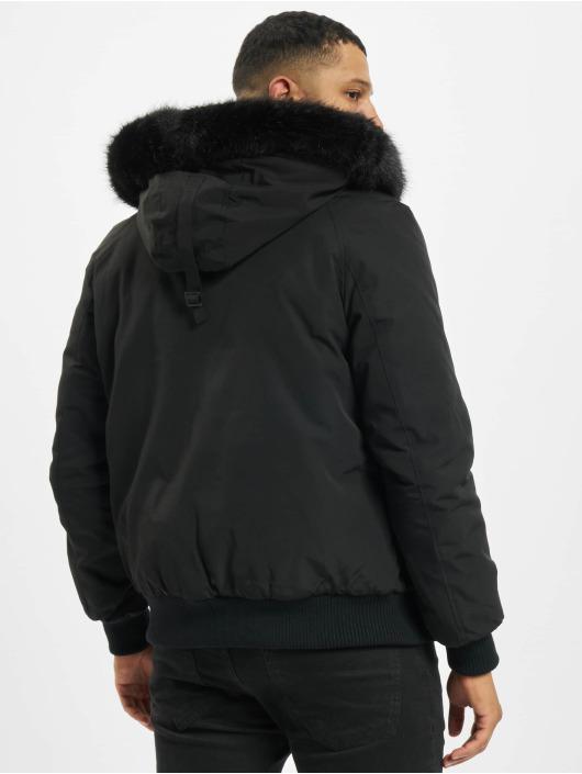 Sixth June Parka Short Parka With Fur schwarz