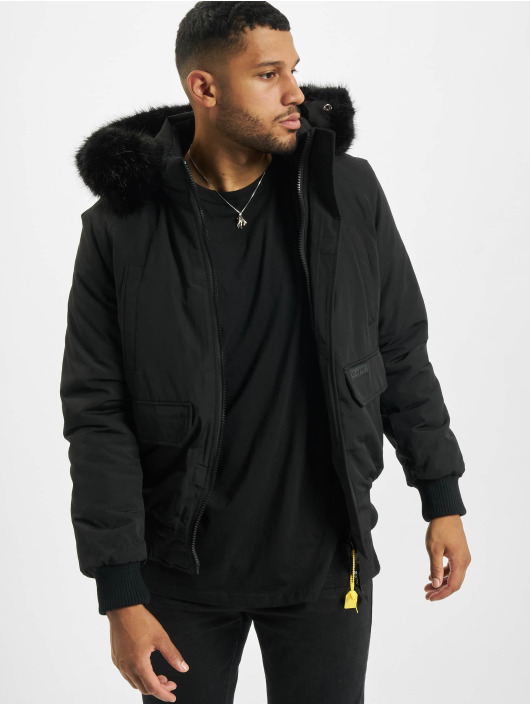 Sixth June Parkatakki Short Parka With Fur musta