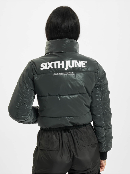 Sixth June Puffer Jacket Short Down With Back Pri black