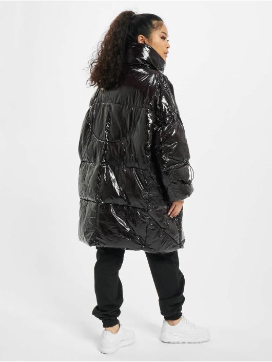 Sixth June Puffer Jacket Long Vinyl Puffer black