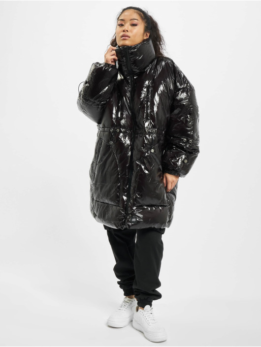 Sixth June Puffer Jacket Long Vinyl Puffer black