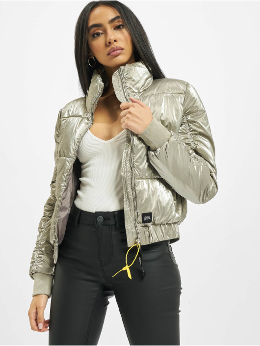 Sixth June Puffer Jacket Metallic Short Down grau