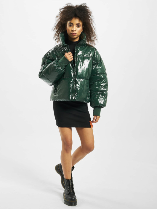 Sixth June Puffer Jacket Oversize Vinyl green