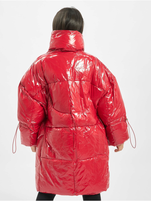 Sixth June Puffer Jacket Long Vinyl Down red