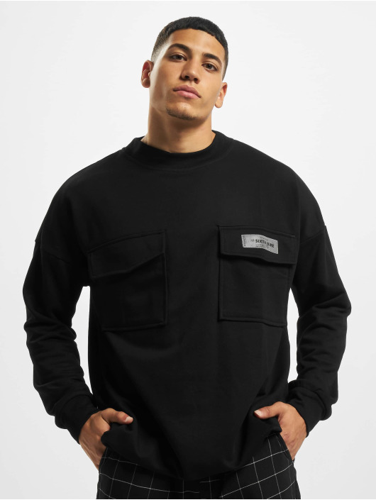 Sixth June Pullover High Neck Cargo black