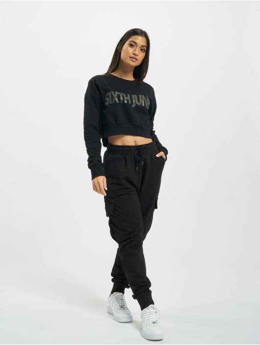 Sixth June Pullover Crop black
