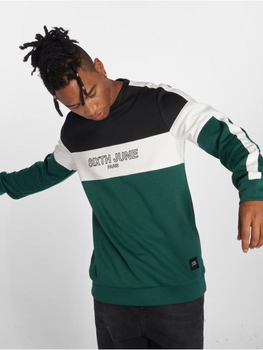 Sixth June Pullover Tricolor green