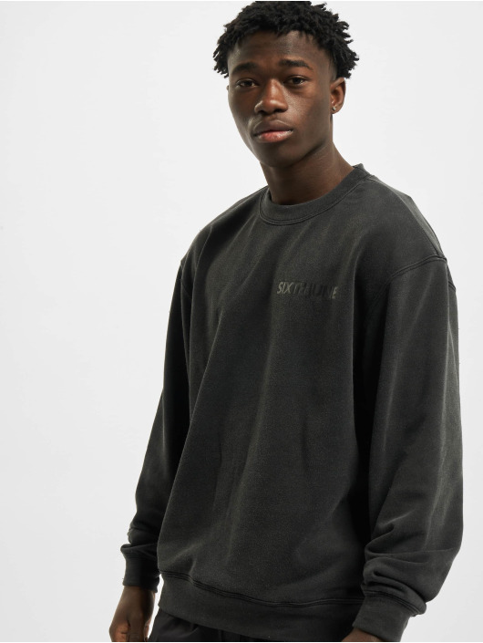 Sixth June Pullover Washed Hoody 2 Sides Print grey