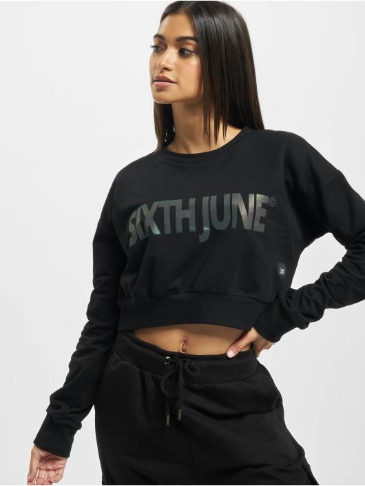 Sixth June Pullover Crop schwarz
