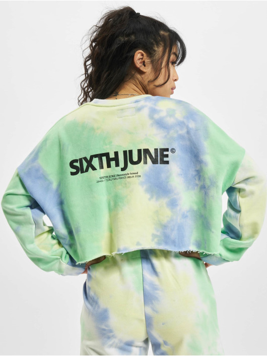 Sixth June Pulóvre Tie&dye Cropped modrá