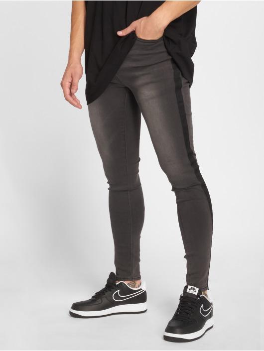 Sixth June Skinny Jeans Tape šedá