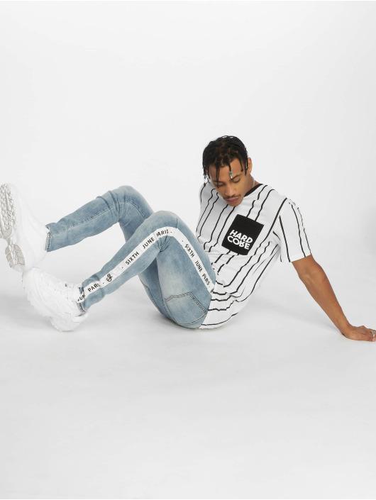 Sixth June Skinny Jeans Stripe blau