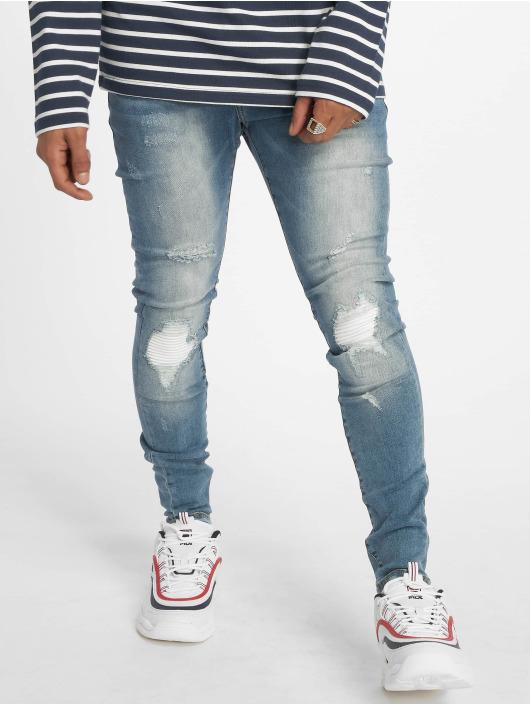 Sixth June Skinny Jeans Open Knee Detail blau