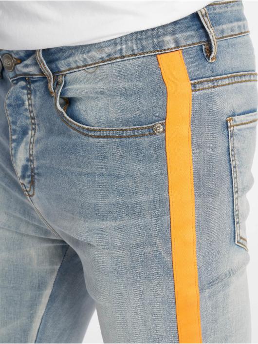 Sixth June Skinny Jeans Orange Line blau