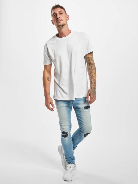 Sixth June Skinny Jeans Denim With Inside Bandana Yoke blau