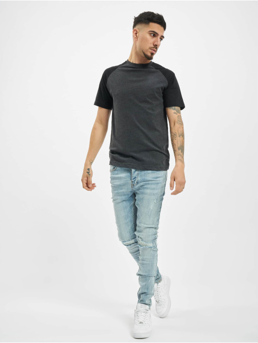 Sixth June Skinny Jeans Destroy Relaxed Denim blau