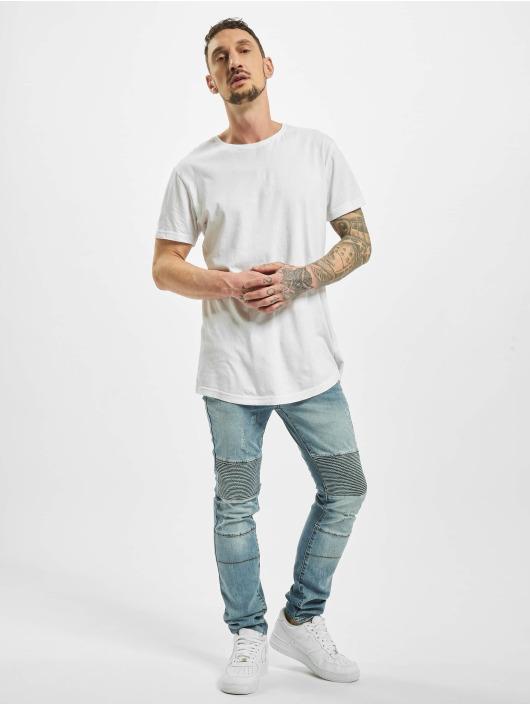 Sixth June Skinny jeans Destroyed Biker blauw