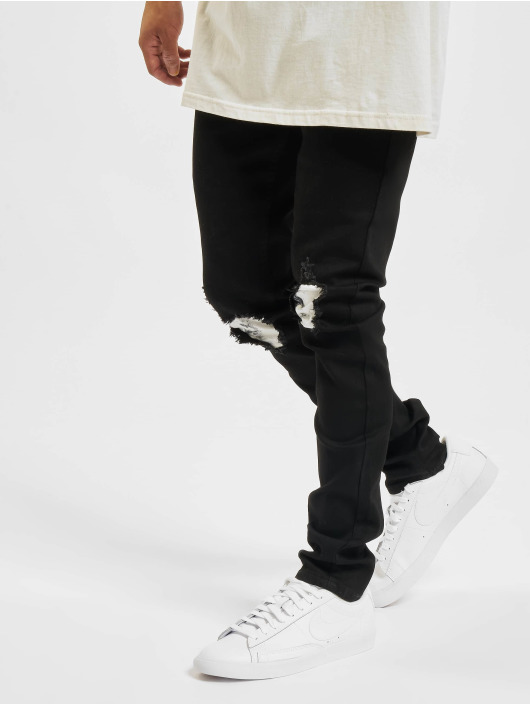 Sixth June Skinny Jeans Td Yoke czarny