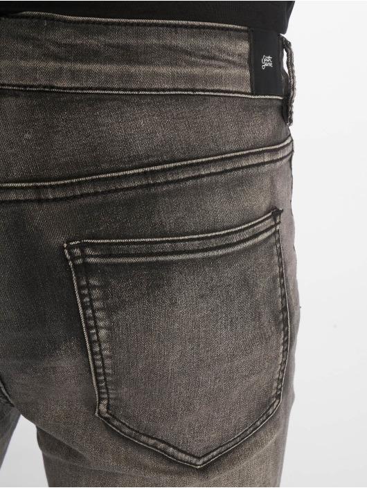 Sixth June Skinny Jeans Destroy grau