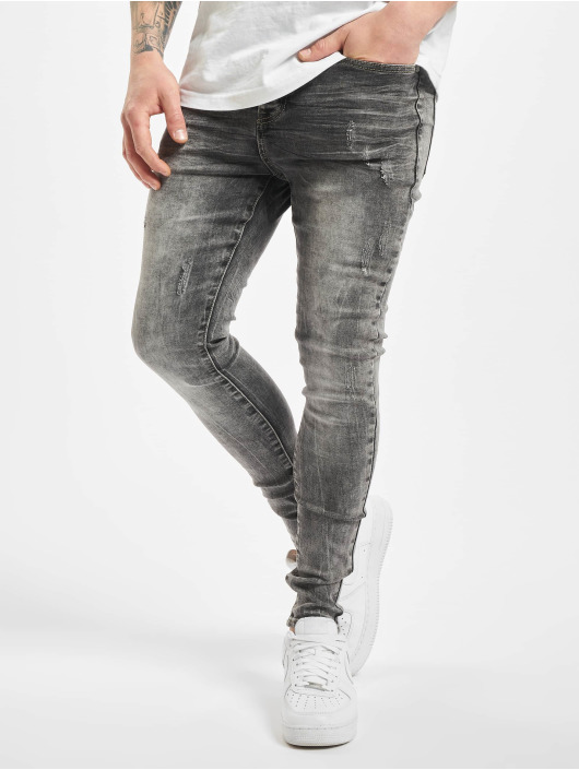 Sixth June Skinny Jeans Denim Washed grau